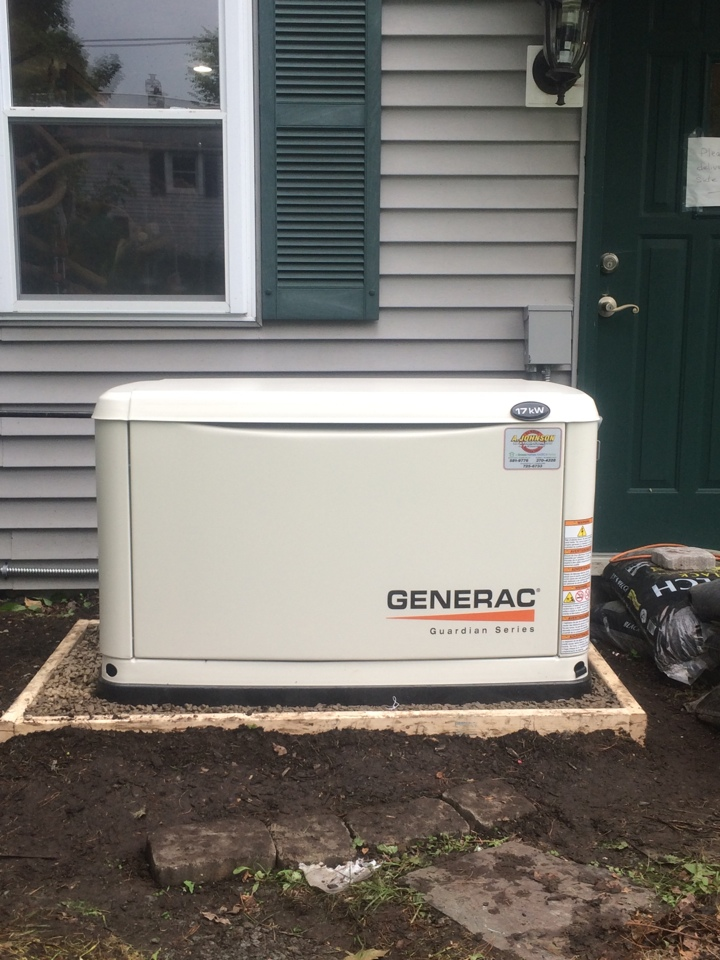 East Greenbush, NY - Installation of new generac 17kw gas generator.