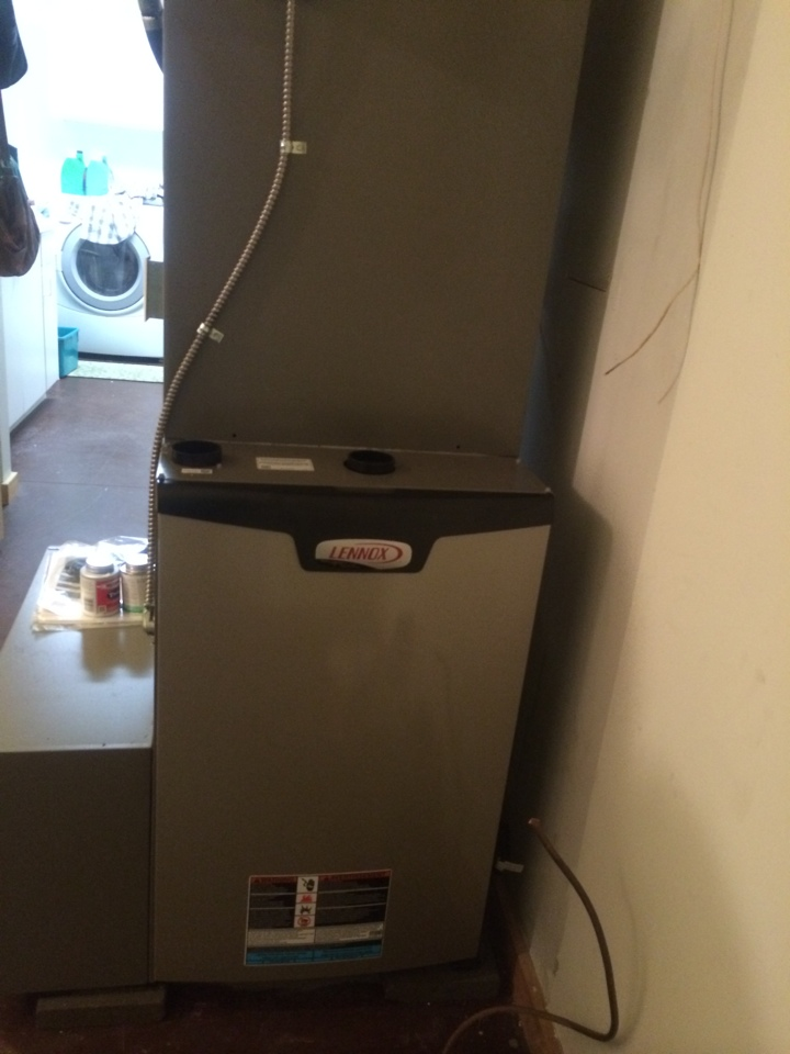 Queensbury, NY - Replaced exsisting oil hot hair furnace with new Lennox Slp 98 LP high efficiency furnace.