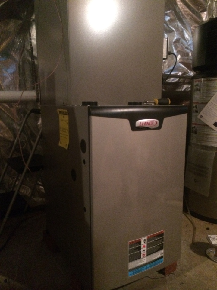 Guilderland, NY - Replaced existing train oil fired  furnace with new Lennox Slp 98 high efficiency gas furnace.