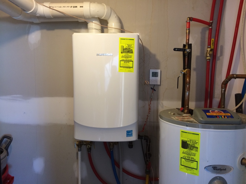 Lake George, NY - plumbing service  Repair Navian tankless hot water heater