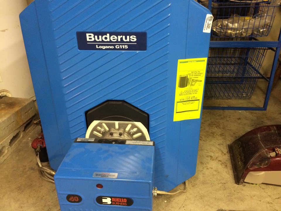 Galway, NY - Preventive maintenance on Buderus oil boiler