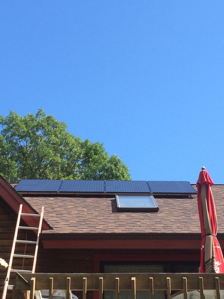 Queensbury, NY - Installation of solar world solar panels and micro inverters.