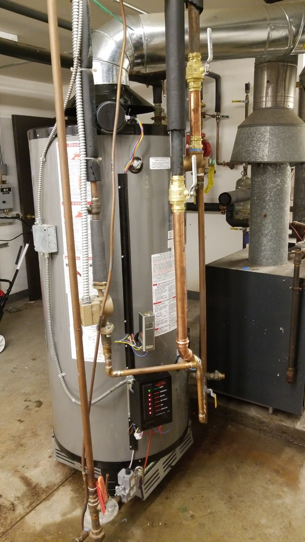 Installed a commercial water heater in Burnsville