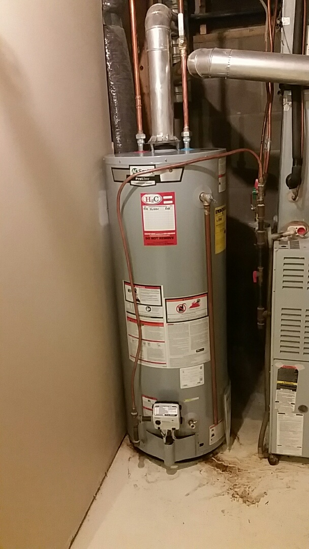 Prior Lake, MN - Provided and installed 50 gallon water heater.