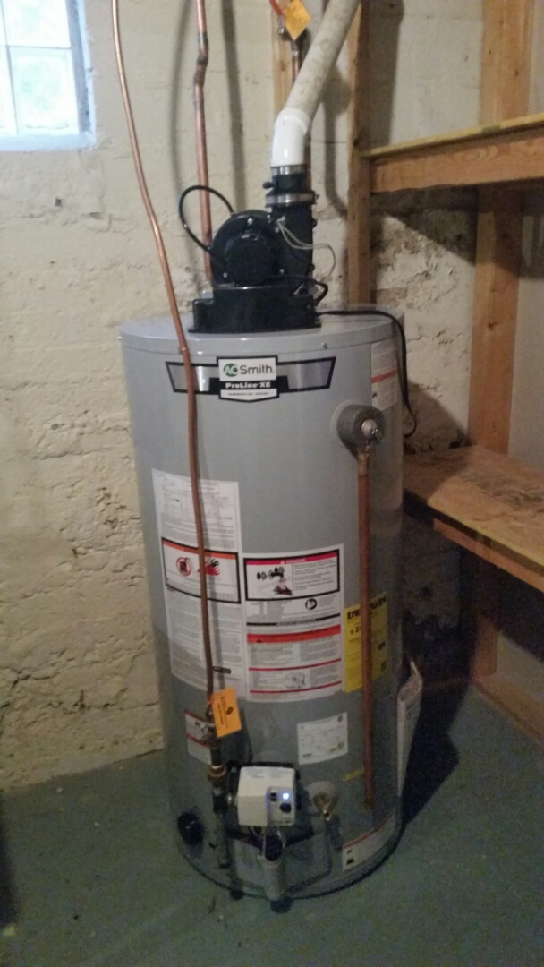 Minneapolis, MN - Provided and installed 50 gallon power vent water heater in Minneapolis