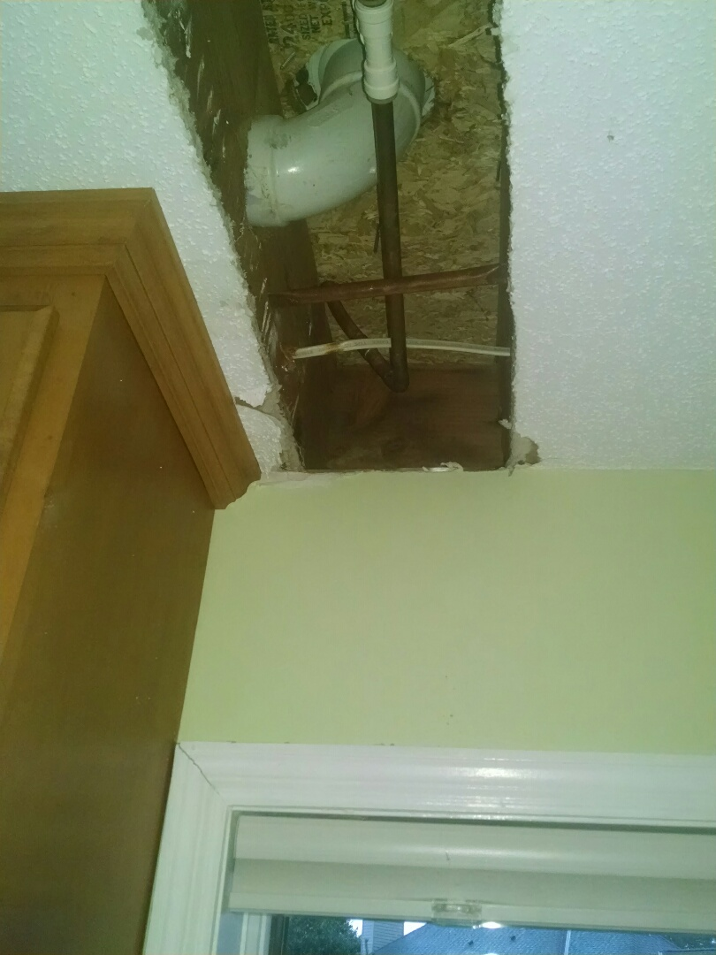 Maplewood, MN - Repair broken water line in kitchen ceiling