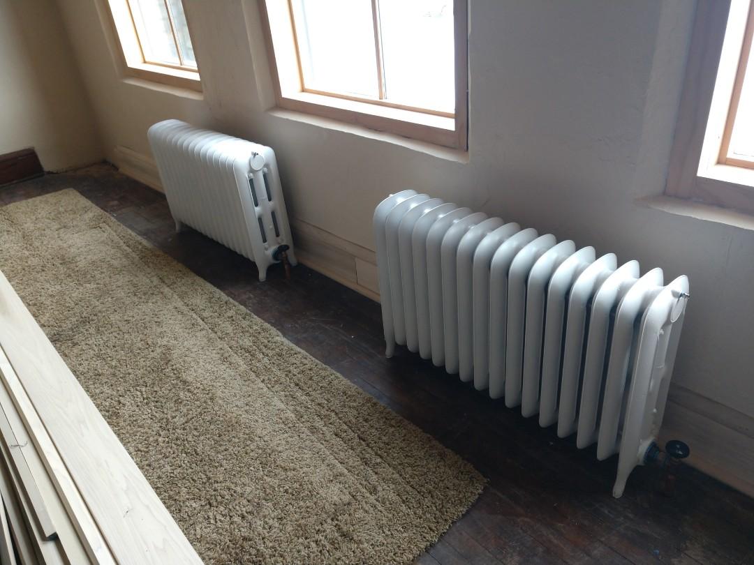 Saint Paul, MN - Cast iron radiator installation. In St. Paul