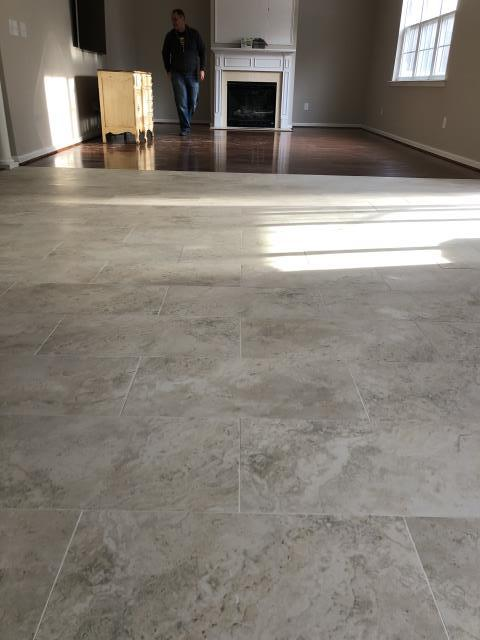 Charlotte, NC - Tile installation and hardwood flooring installation completed for a nice couple in Charlotte!