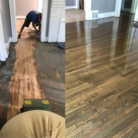 Kannapolis, NC - A small flip house floor refinish done today in Kannapolis.