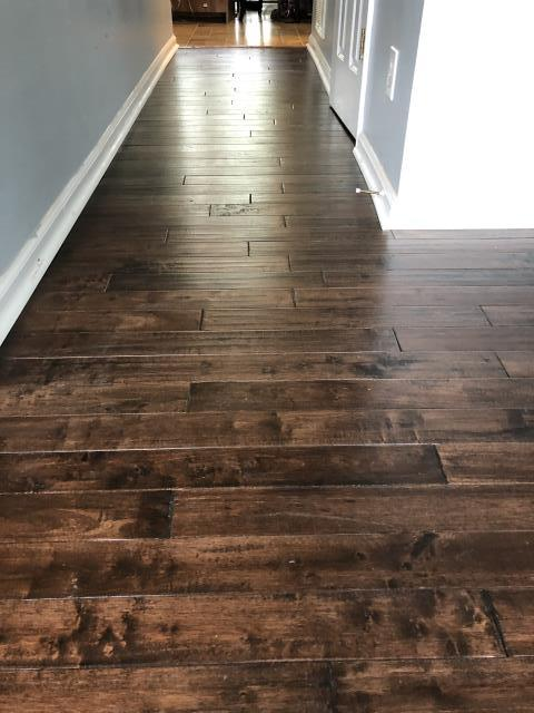 Concord, NC - Prefinished nail down hardwood flooring install complete for a great family in Concord, NC!