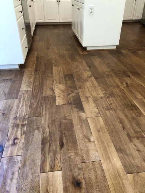 Harrisburg, NC - Beautiful handscraped prefinished solid nail down hardwood flooring in Harrisburg, NC!