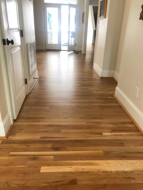 Fort Mill, SC - Amazing sand and refinish using Bona Traffic HD Matte finish in Fort Mill, SC!