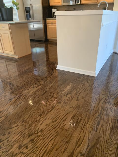 Charlotte, NC - Hardwood flooring sand & refinish for a wonderful couple in the SouthPark area!