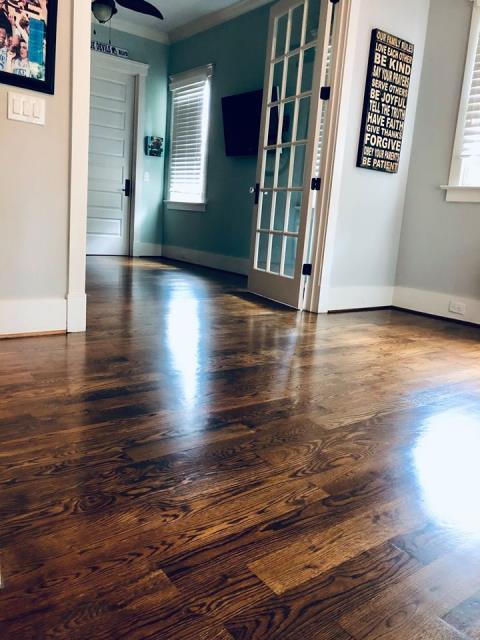 Charlotte, NC - A hardwood flooring sanding & refinish for a wonderful couple in the Foxcroft area of Charlotte, NC!