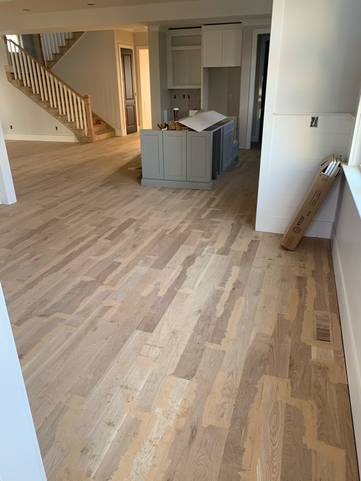 Charlotte, NC - New construction 5 inch white Oak hardwood installation in Dilworth area Charlotte North Carolina.
