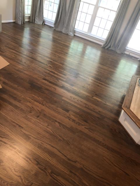 Mooresville, NC - Just finished a hardwood install and refinish for a great family in Mooresville.