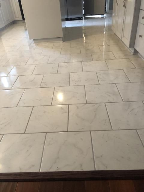 Charlotte, NC - Installation of beautiful ceramic tile flooring for a nice couple in the University area.