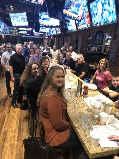 Charlotte, NC - Dinner at Duckworth's Grill & Taphouse Uptown Charlotte, NC with friends who do hardwood flooring from all over North America! We had friends from Connecticut, Indiana, Iowa, New Mexico, Florida and Canada come!! A great evening of upbuilding and networking!