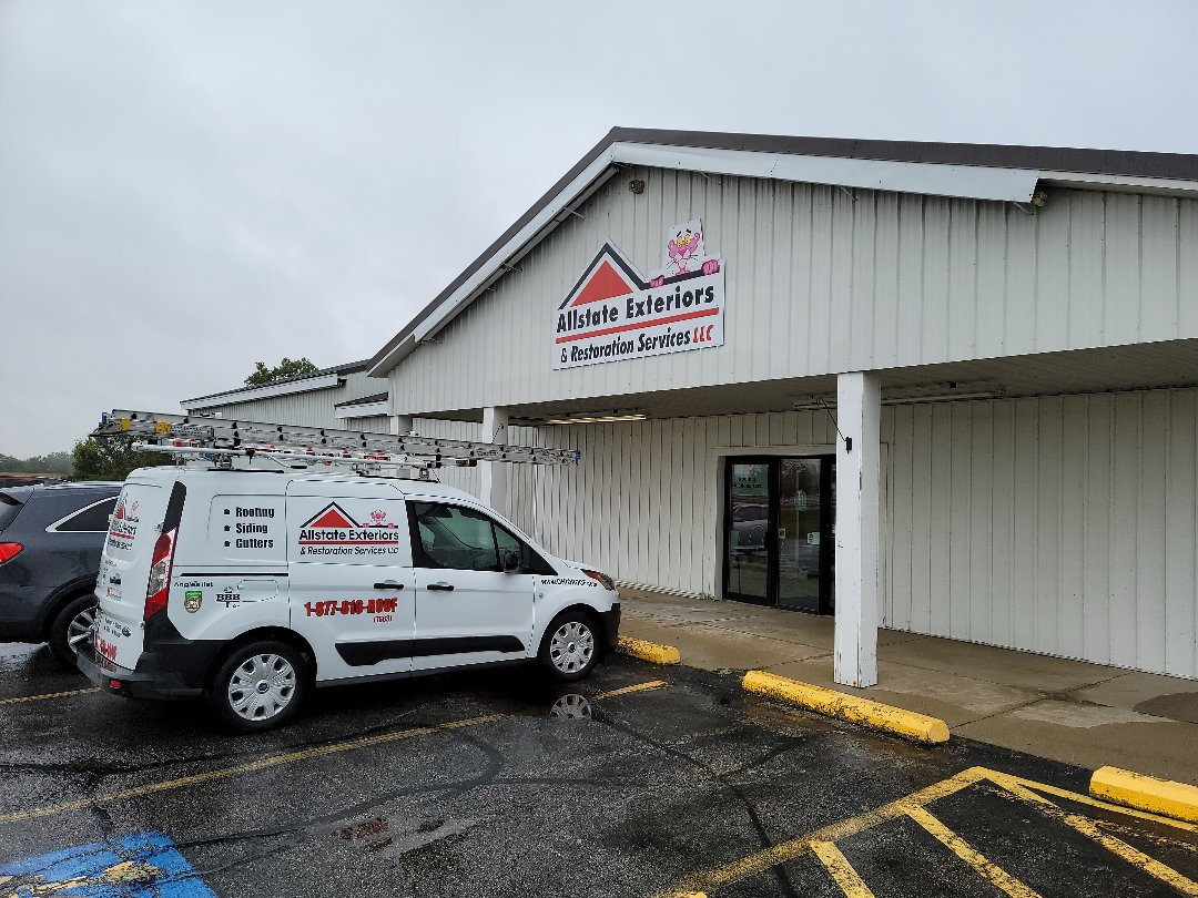 London, OH - If the rain today has you concerned about your roof call the experts at Allstate Exteriors