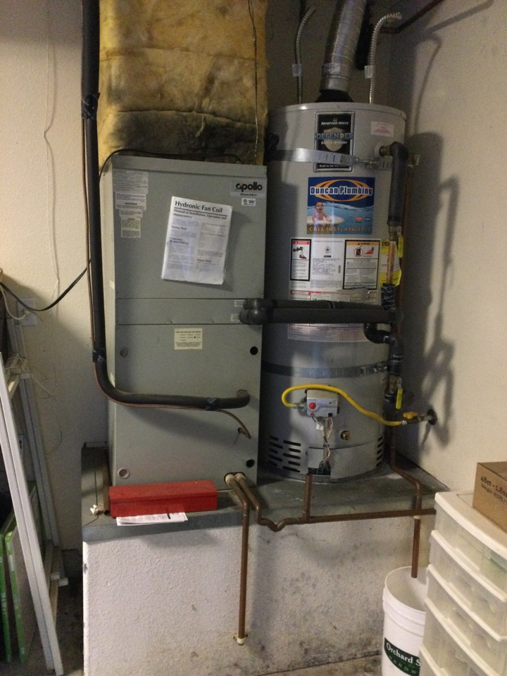 Scotts Valley, CA - Repaired air handler and thermal expansion tank.