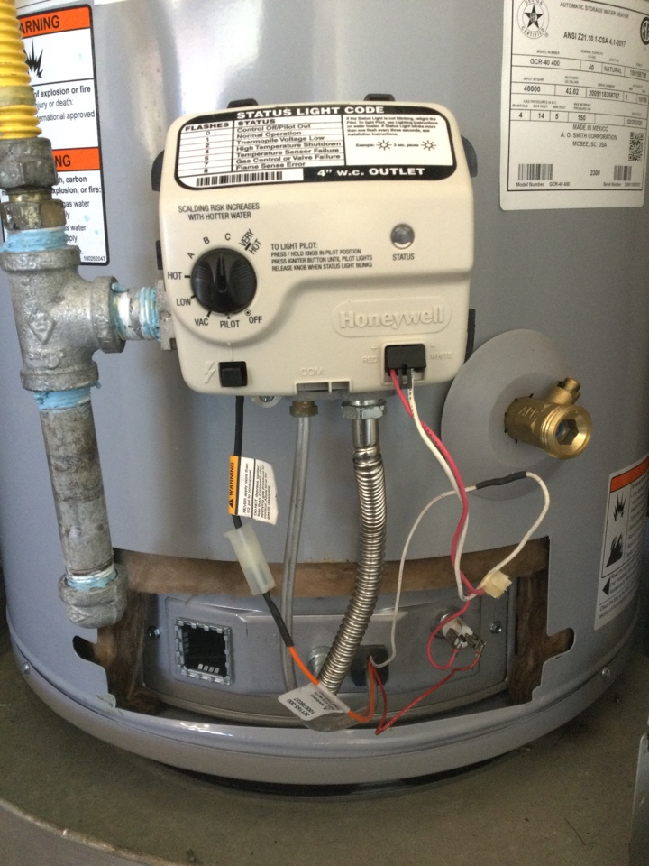 Performed water heater diagnostic service and found that the pilot assembly needs to be replaced.