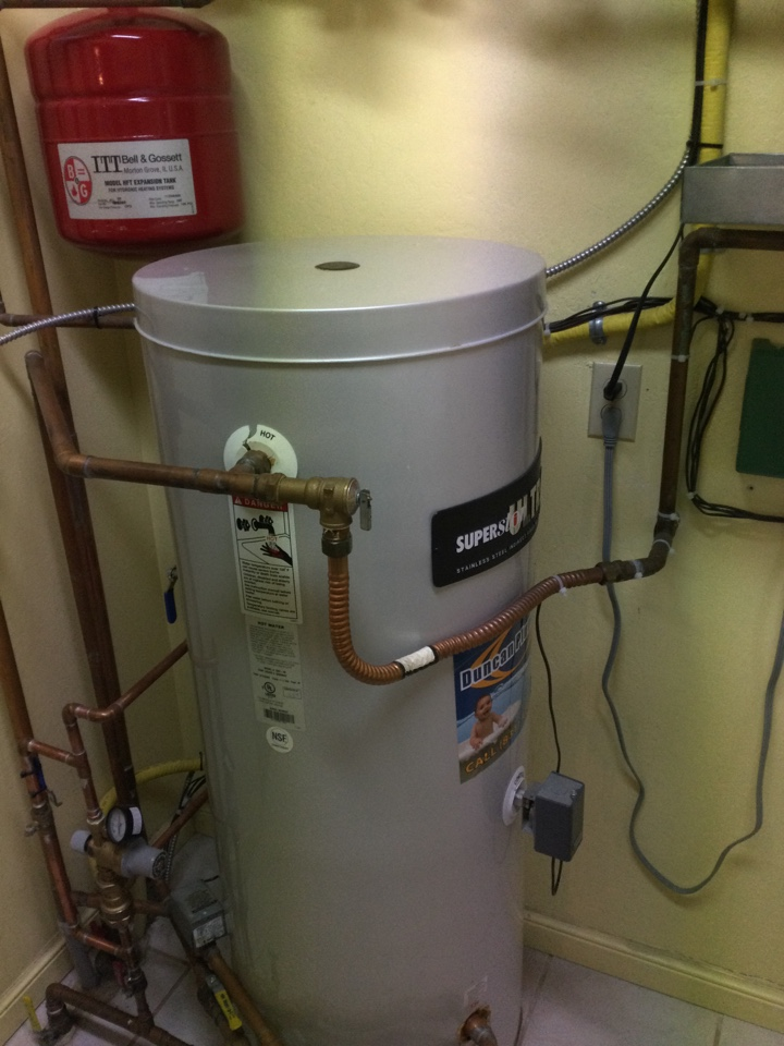 Provided an estimate to replace an indirect fired hot water heater.