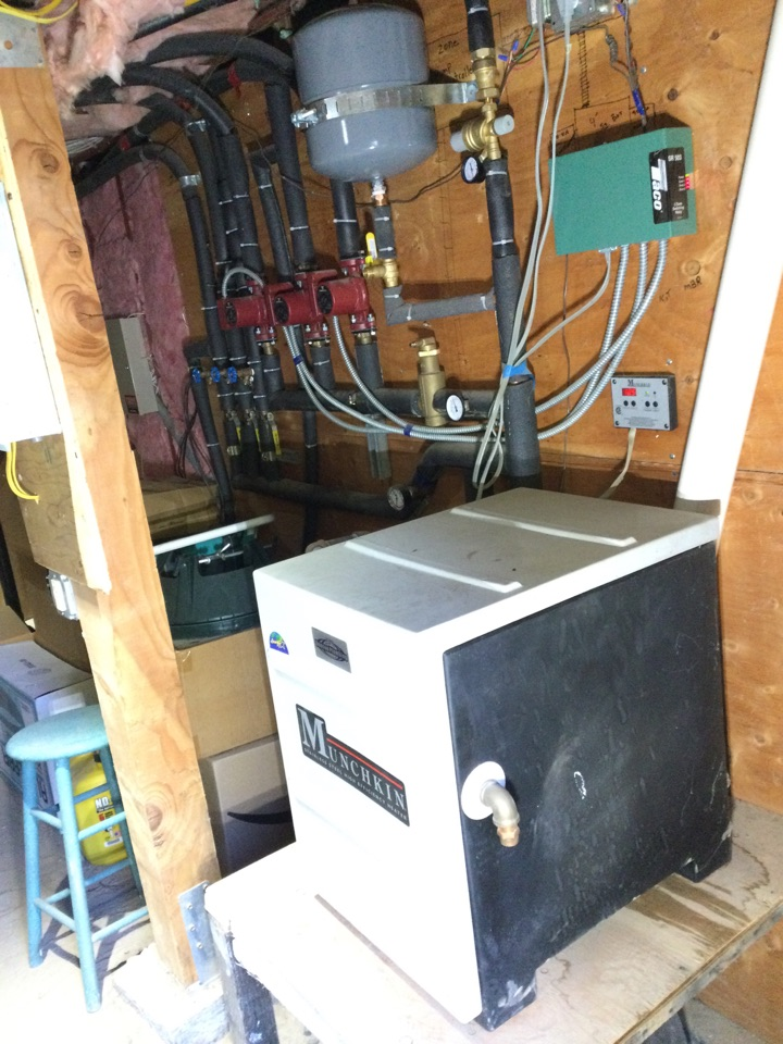 Repaired hydronic heating system.