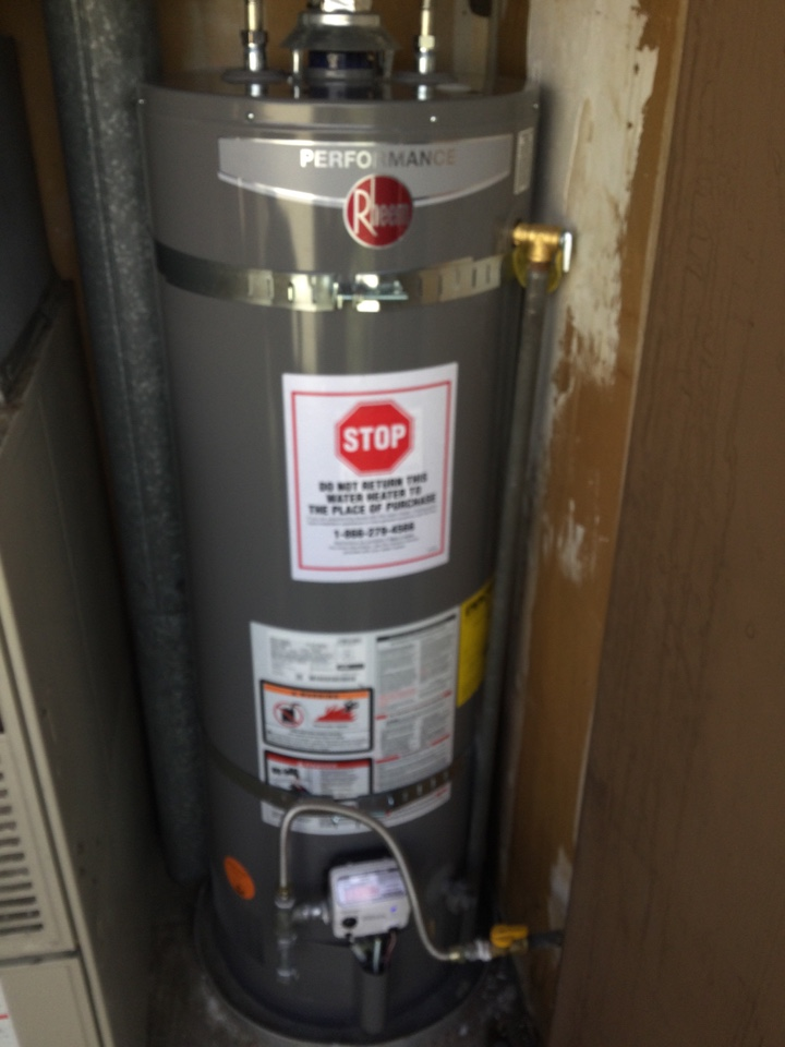 Replaced a water heater.