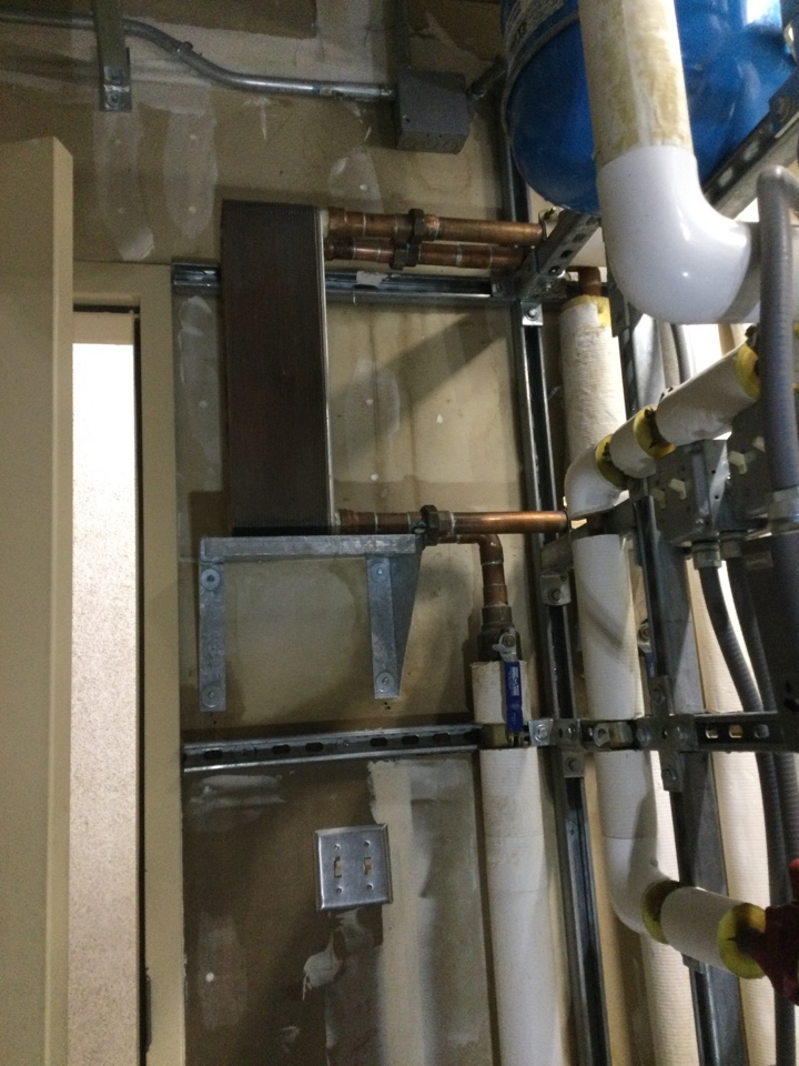 Capitola, CA - Repaired leak in an equipment room.