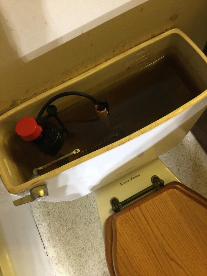 Repaired running toilet.
