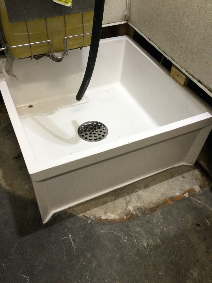 Replaced a mop sink