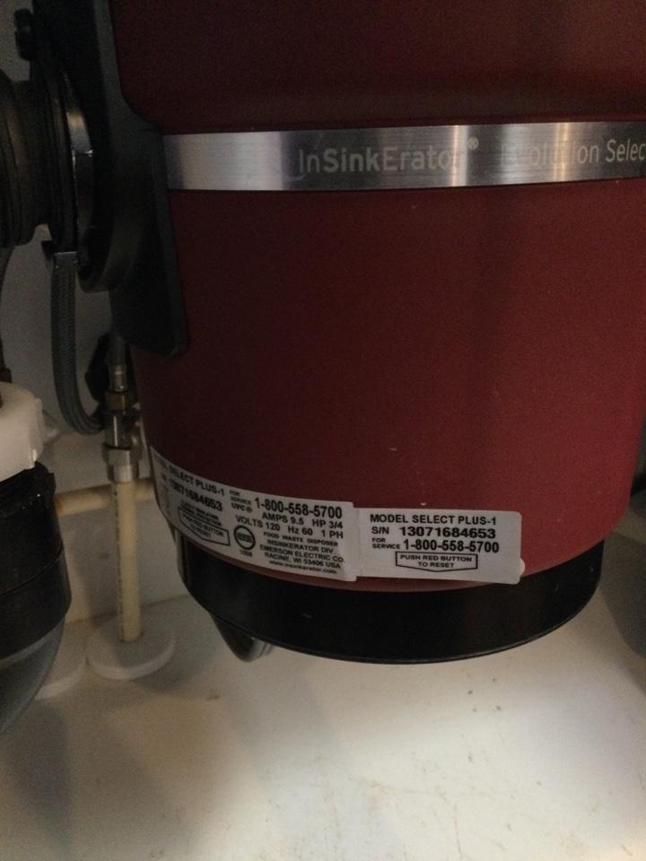 Santa Cruz, CA - Installed a new food waste disposer.