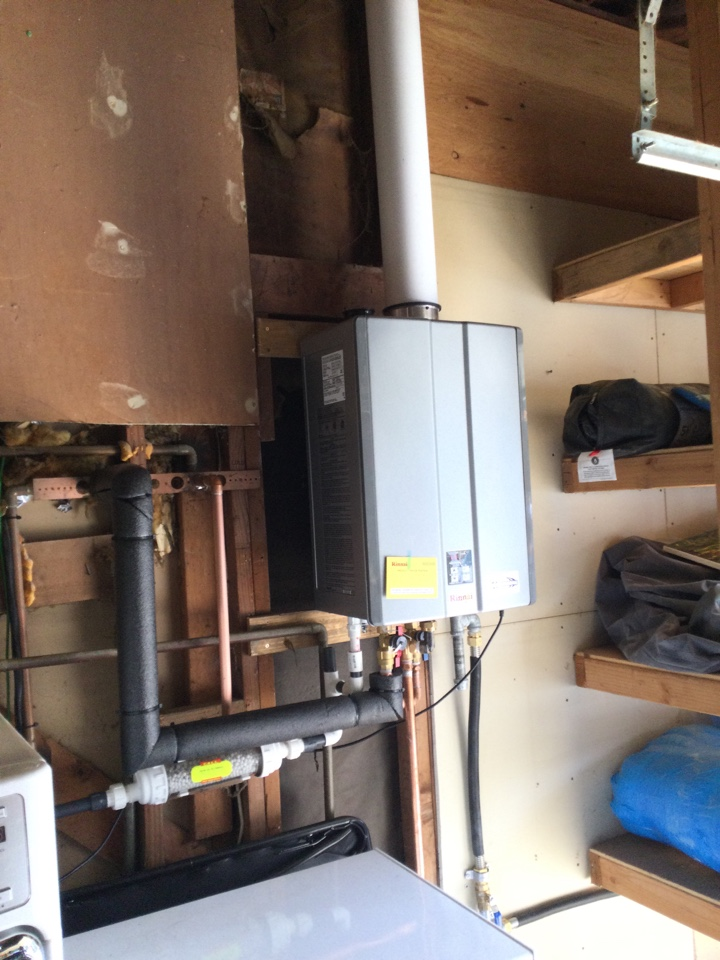 Installed a new tankless water heater.