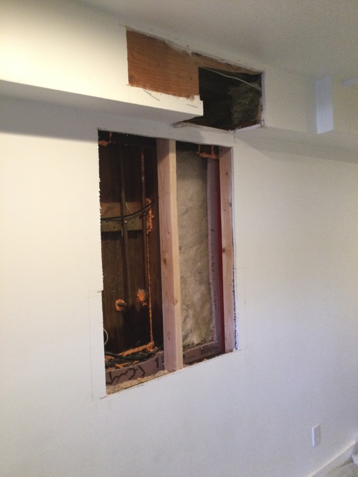 Repaired a leak in a wall.