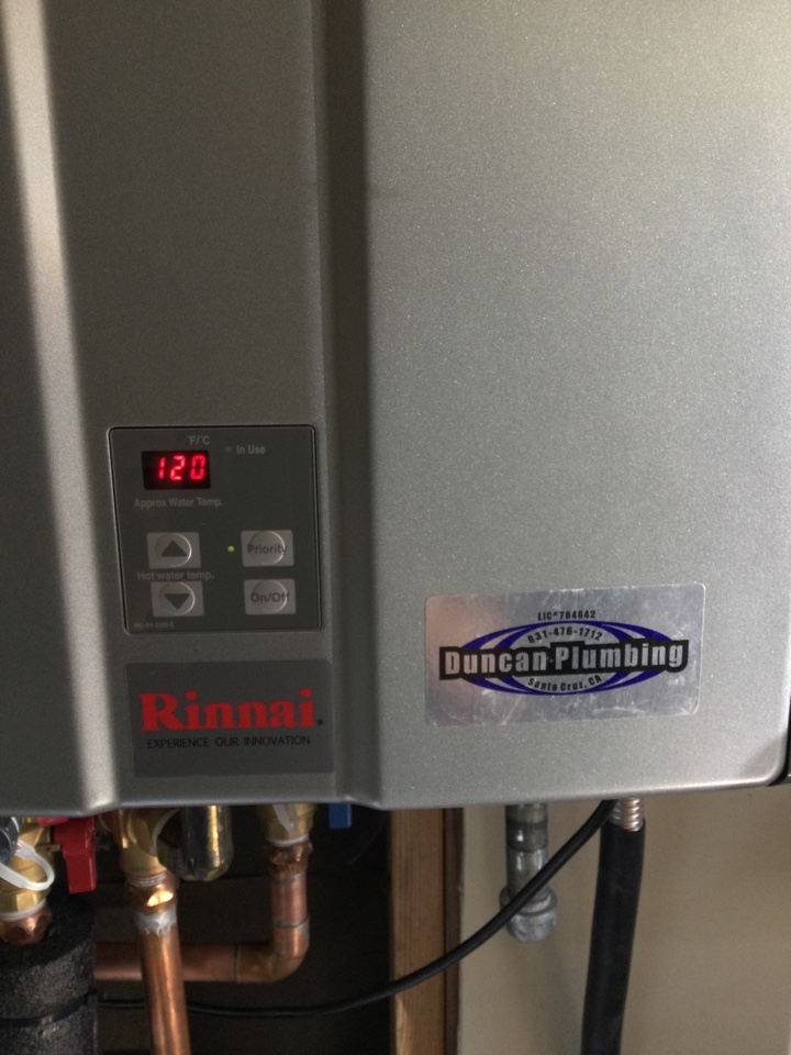 Performed diagnostic service for a tankless water heater.