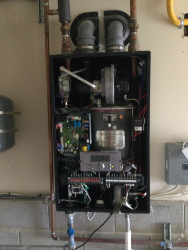 Repaired a condensing boiler.