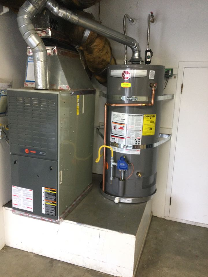 Installed a new water heater.