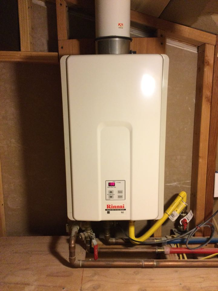 Capitola, CA - Serviced a tankless water heater.