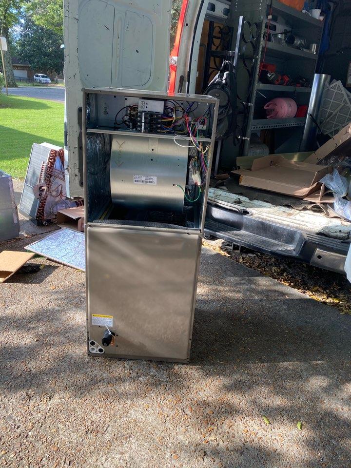 Memphis, TN - Heat-Pump  Air handler installation