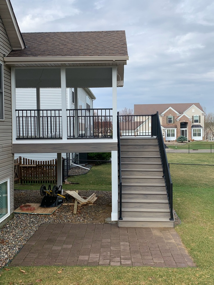 Woodbury, MN - Screen porch build almost completed