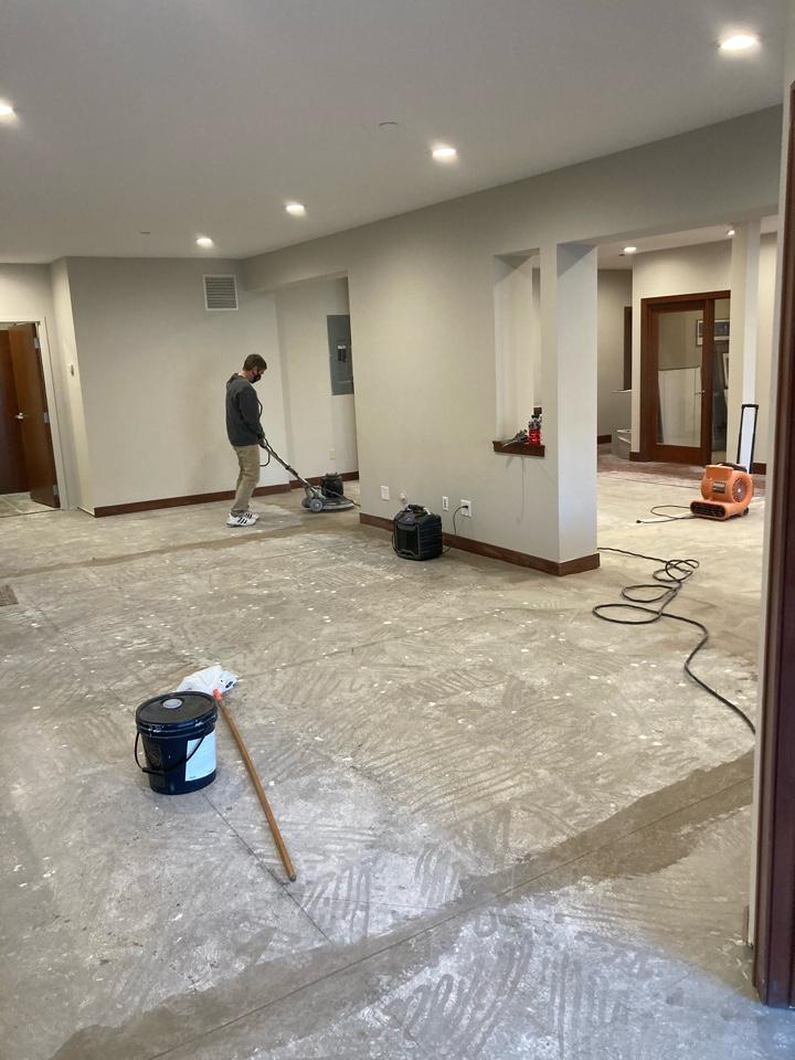 Oakdale, MN - Flooring going down on office remodel