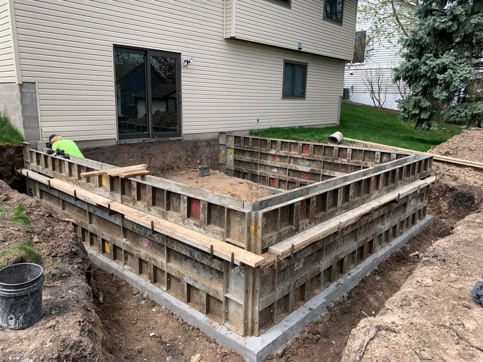 Oakdale, MN - Plummer Concrete pouring frost walls today