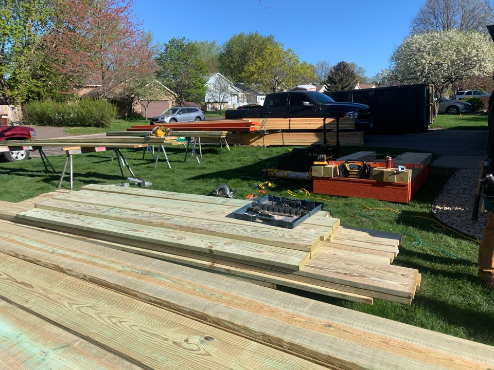 Oakdale, MN - Framing starts today - screen porch