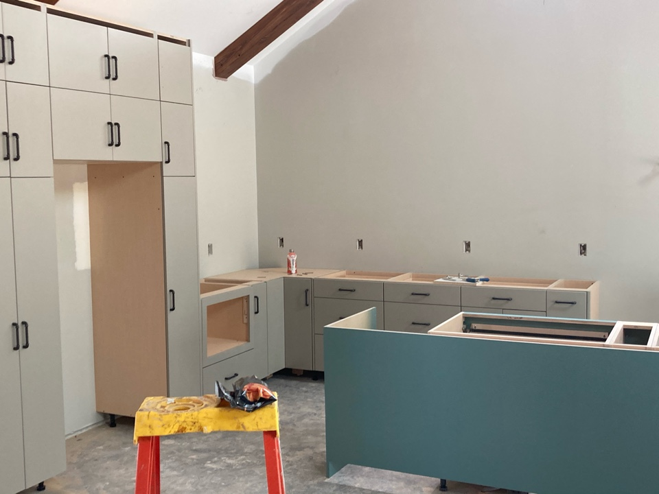 Lakeland, MN - Cabinets going in on new home build