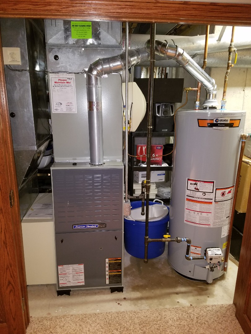 Lake in the Hills, IL - American Standard furnace tune up and emergency State Water heater install