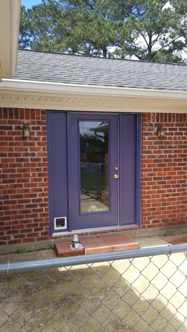 Semmes, AL - installed new Therma-Tru door near Semmes, Al.