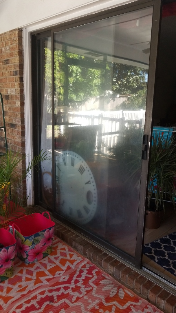 Fixing a barely moving sliding glass door