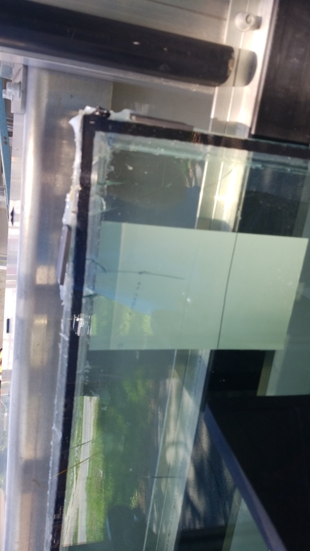 Installed new piece of glass on swinco window