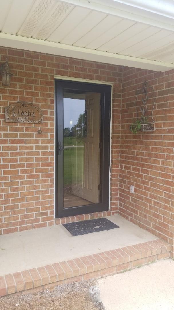 installed new storm doors in Elberta, Al.