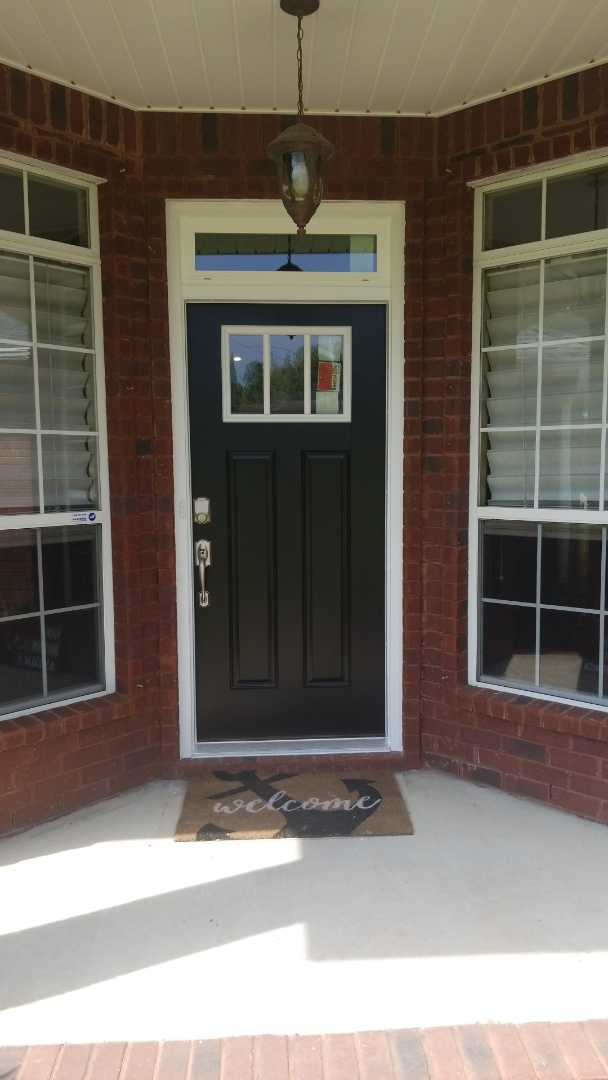 installed new impact rated door and window in Pace  Fl.